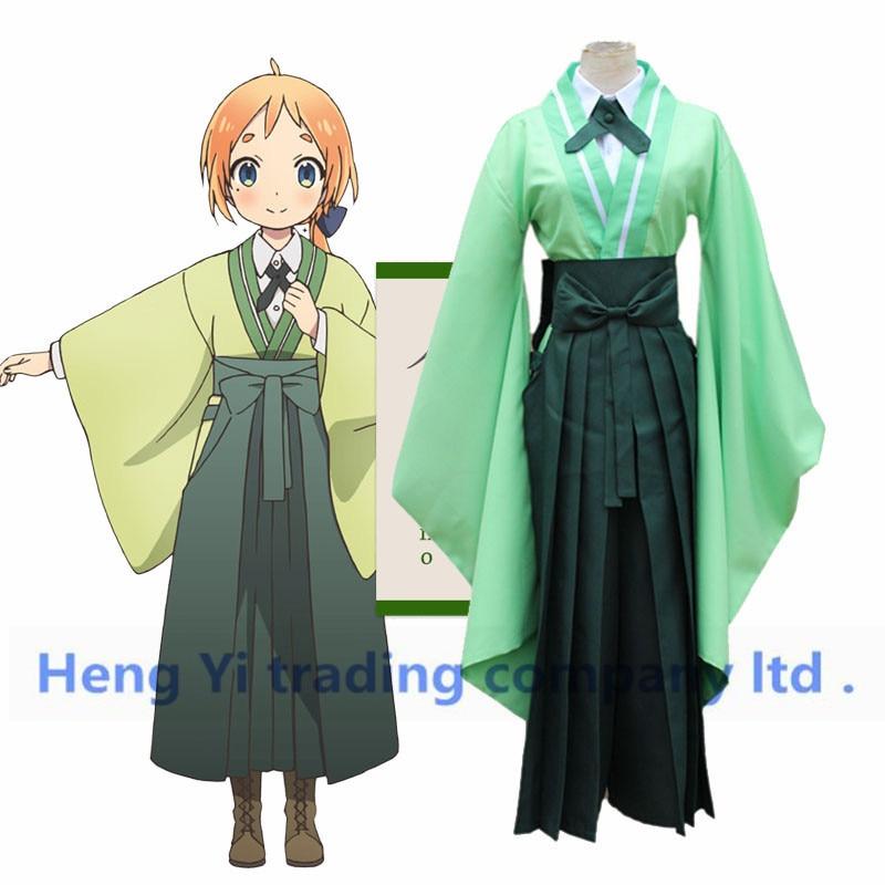 Costumes de Cosplay duraran Natsume Nono Cos Kimono japon Anime Cosplay haut chemisier pantalon noeud papillon 4 pièces ensemble Costumes de Cosplay dhalloween