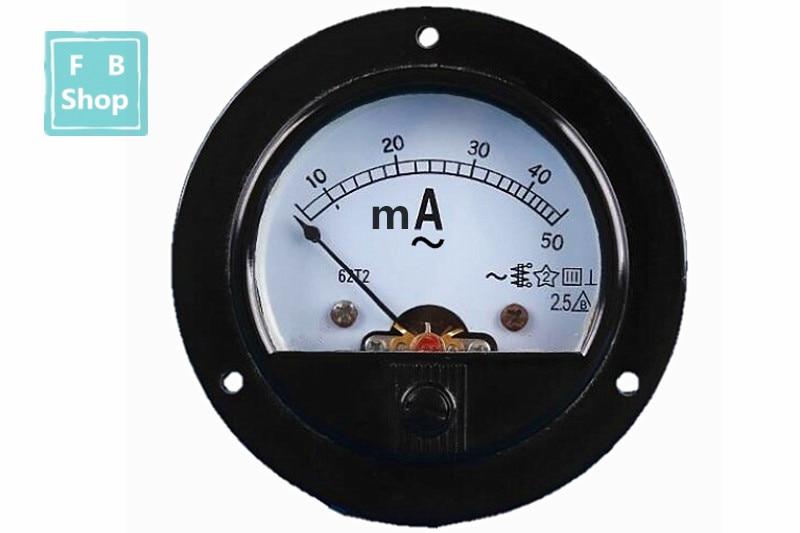 62T2/65C5 5mA 10mA 20mA 30mA 50mA 100mA 200mA 300mA AC Analog Ammeter Panel Current Pointer Diagnostic-tool  Ampermeter
