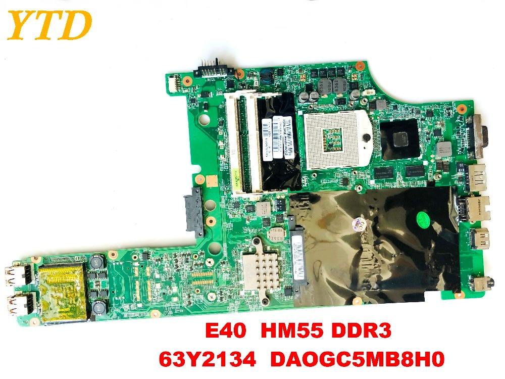 الأصلي لينوفو E40 اللوحة المحمول E40 HM55 DDR3 63Y2134 DAOGC5MB8H0 اختبار جيد شحن مجاني