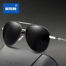 KATELUO 2020 Classic Mens Military Quality Sunglasses Polarized Lens UV400 Male Sun Glasses Pilot Gl