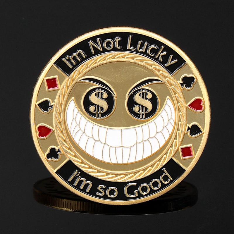 Металлическая защита для покерных карт I'm Not Luck I Am So Good позолоченный круглый пластиковый ящик для покерных фишек