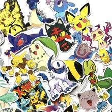 Милые наклейки, 45 шт./компл., Pikachu Monster Brinquedos, аниме, для сноуборда, ноутбука, багажа, автомобиля, Pegatina, подарки для детей F5