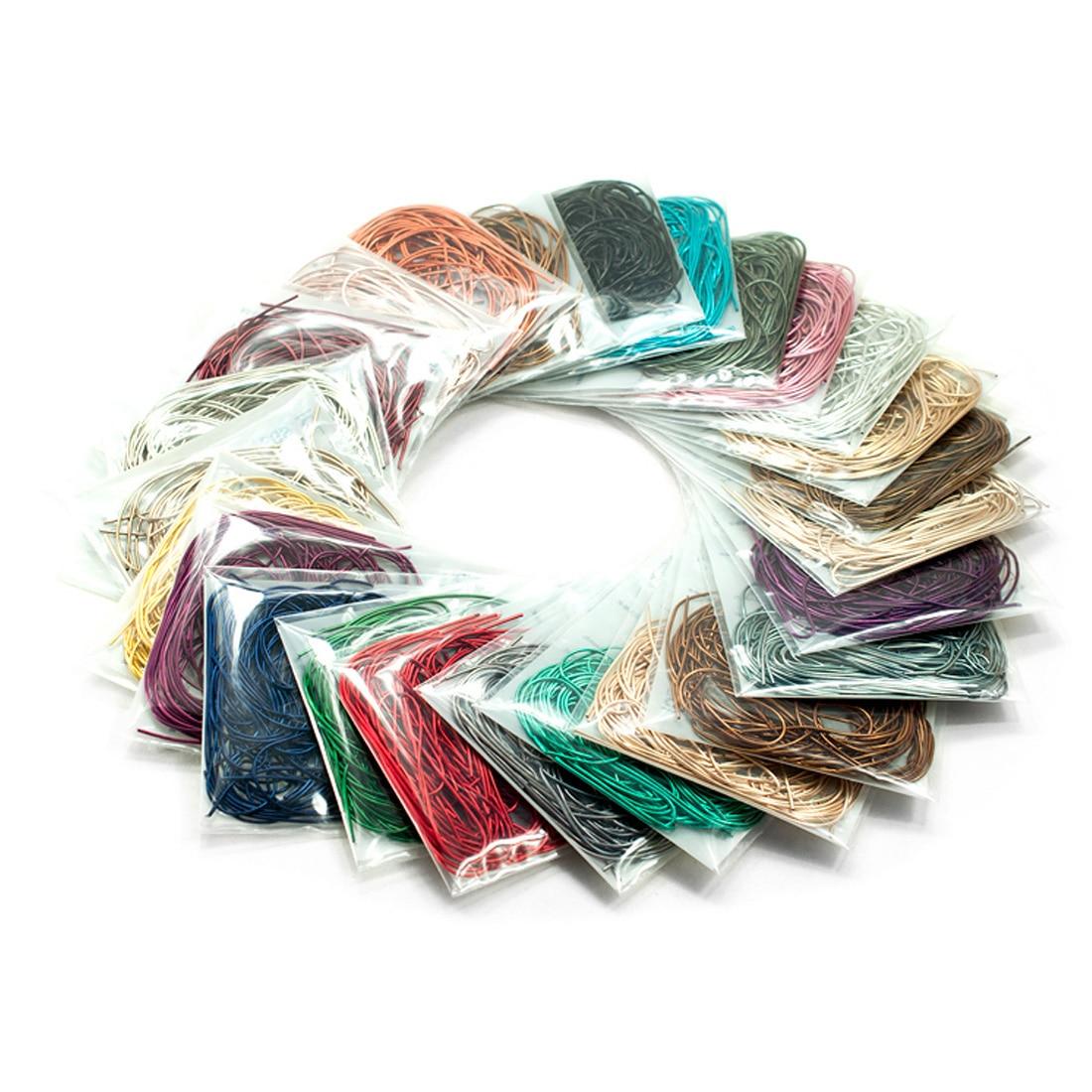 10 g/bolsa ronda de seda hilo de costura herramientas accesorios costura bordado Kit de seda DIY decoración de fiesta