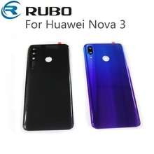 For Huawei nova 3 Nova3 Back Battery Cover Case Rear Housing Cover Rear Door+camera lens+Adhesive Sticke