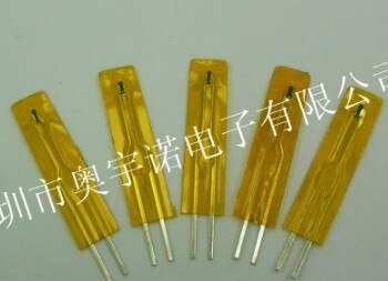 Envío Gratis 100 unids/lote termistor NTC película delgada MF5B Tipo SMD 50K 1% B 3950 de valor de 25 mm de longitud termistor NTC