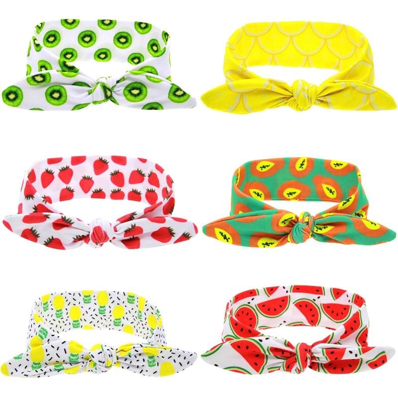 Turbante Naturalwell de frutas y limonada, turbante con forma de piña, turbante Tropical, envoltorio para cabeza atado con lazo para verano, 1 unidad, HB099