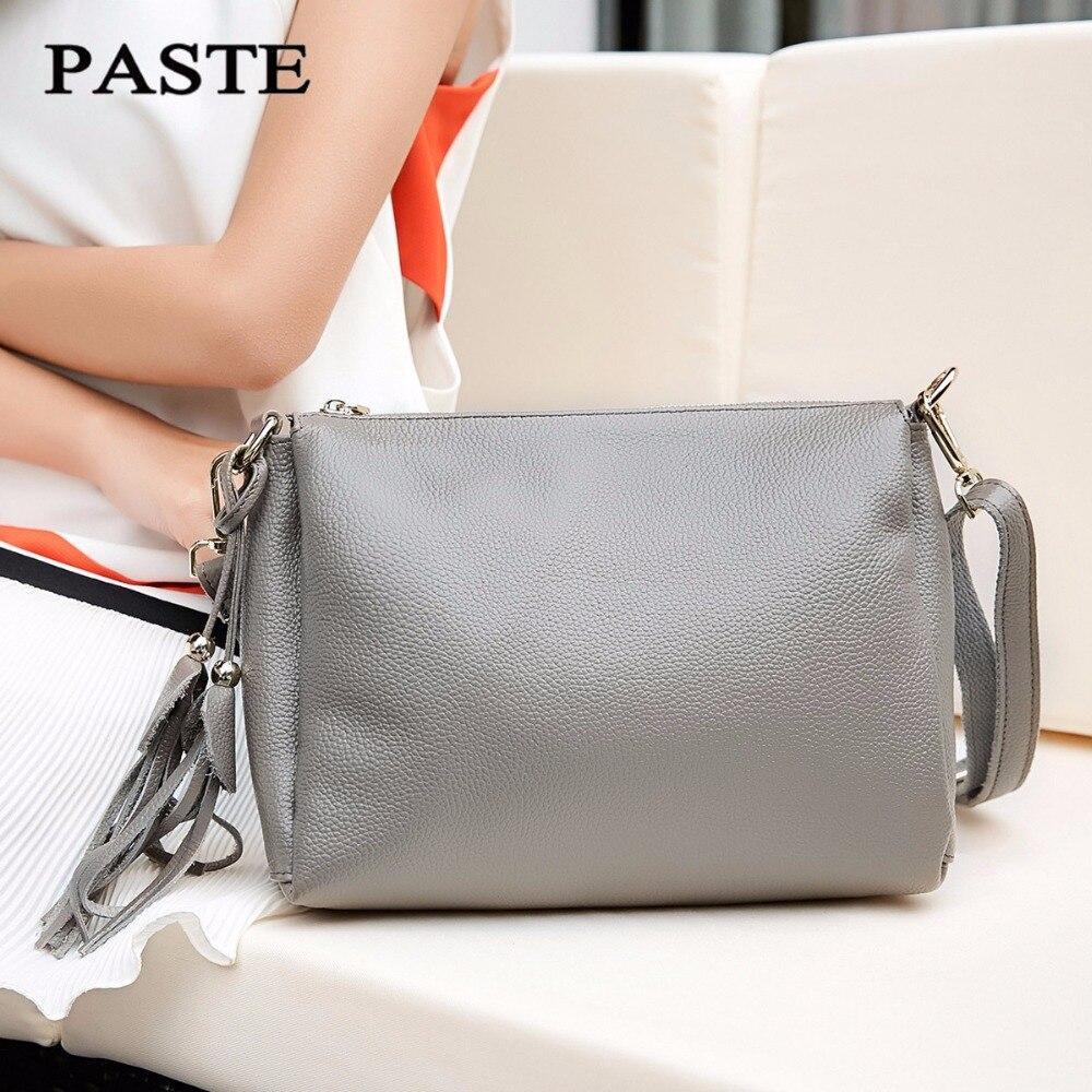 2017 العلامة التجارية أفضل الجلود موضة المرأة الصغيرة حمل حقيبة حقائب كتف السيدات الكلاسيكية نمط اعوج