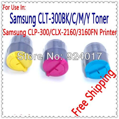 Para Samsung CLP 300 300n CLX 2160 3160 recarga de Toner para Samsung CLP300 CLP300N CLX2160 CLX2160N CLX3160FN CLX3160N impresora a Color