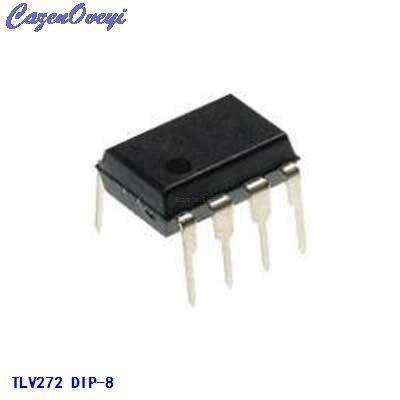 10 unids/lote TLV272IP IC, AMP OP GP R-R 3MHZ DUAL 8DIP TLV272IP 272 TLV272 TLV272I 272I V272