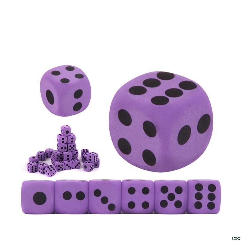 6 uds especialidad gigante dado de espuma EVA chico juguetes educativos para niños fiesta juego de dados