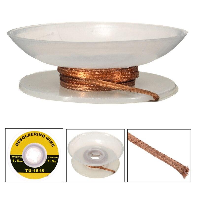TU-1515 cables de soldadura profesionales 1,5mm mecha de soldadura de precisión accesorios de alambre de desoldadura trenza mecha de soldadura práctica