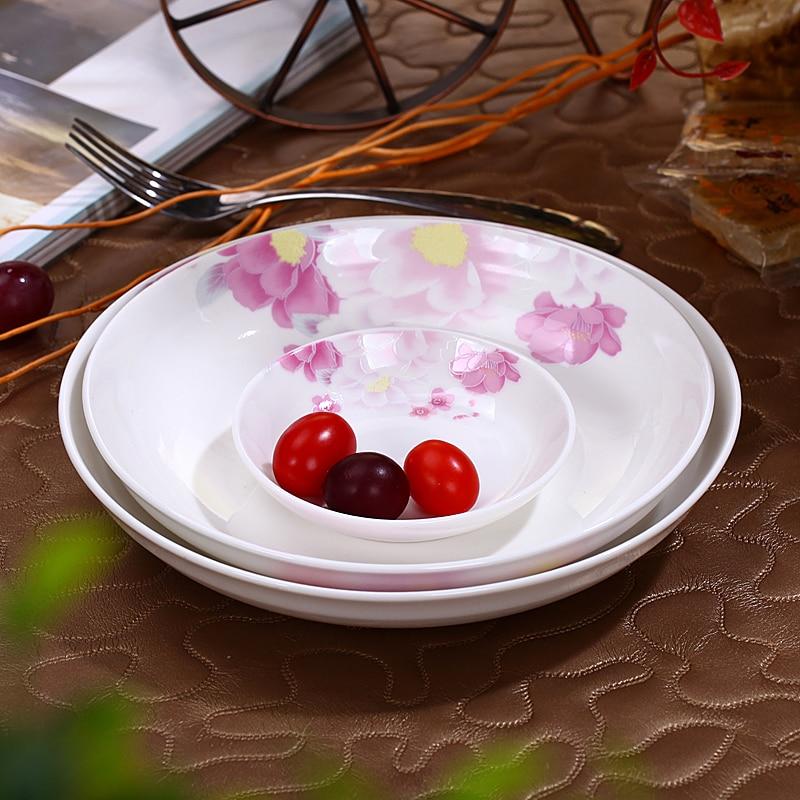Disco de cerámica floreada Littoral hueso doméstico plato de porcelana ashet scodela disco de fruta