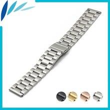 Bracelet de montre en acier inoxydable 18mm 20mm pour DW Daniel Wellington fermoir pliant sangle boucle rapide boucle ceinture Bracelet noir argent