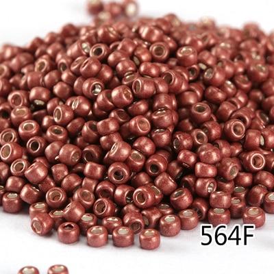 Cuentas de semillas 2mm 1000 uds, marrón oscuro rojo/Cuentas espaciadoras de joyería redondas hechas a mano DIY, venta al por mayor, cuentas de cristal de lámpara esmerilada de Japón