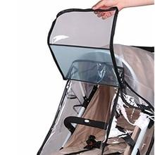 Housse de Protection imperméable pour poussette   Protection coupe-vent, trous dair extérieurs, couverture de pluie transparente pour poussette, moustiquaire, poussette de voyage universel pour bébé