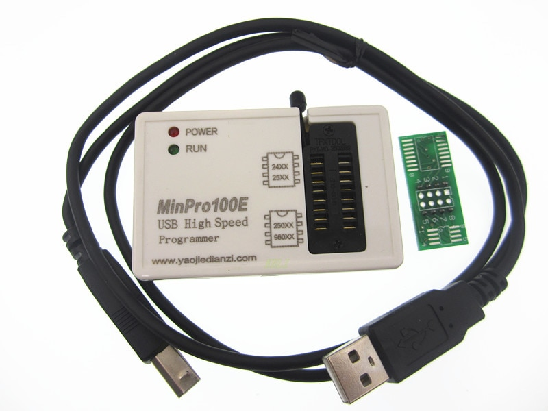 Entrega. MinPro100E programador BIOS SPI FLASH 24/25/95 USB lector de memoria escritor