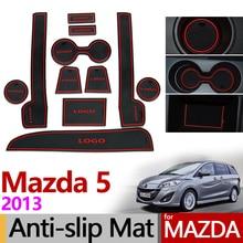 Für Mazda 5 Premacy 2013 Anti-Slip Gummi Matten Tasse Kissen Tür Nut Matte Zubehör Auto Styling Aufkleber Mazda5 2014 2015