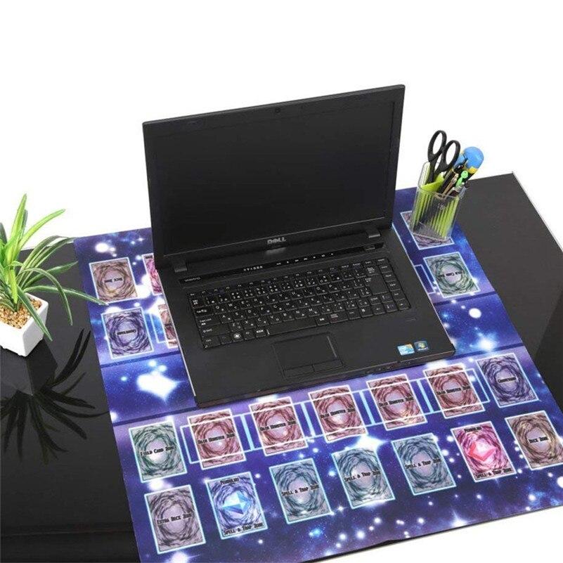 Alfombrilla para jugar de goma 60x60cm estilo galaxia alfombrilla de juego de competición para yu-gi-oh juego de tarjeta de colección tarjetas de regalo para niños D4