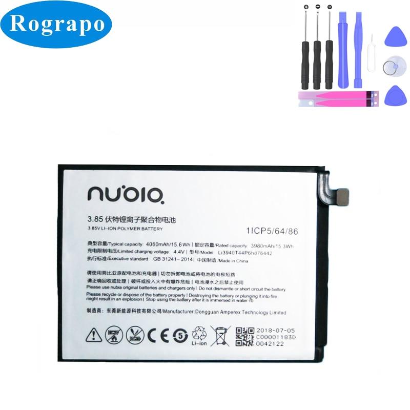 4060 мАч Li3940T44P6h876442 Сменный аккумулятор для ZTE Nubia Z18/NX612J Аккумуляторы для мобильных телефонов 4060 мач li3940t44p6h876442 сменный аккумулятор для zte nubia z18 nx612j аккумуляторы для мобильных телефонов