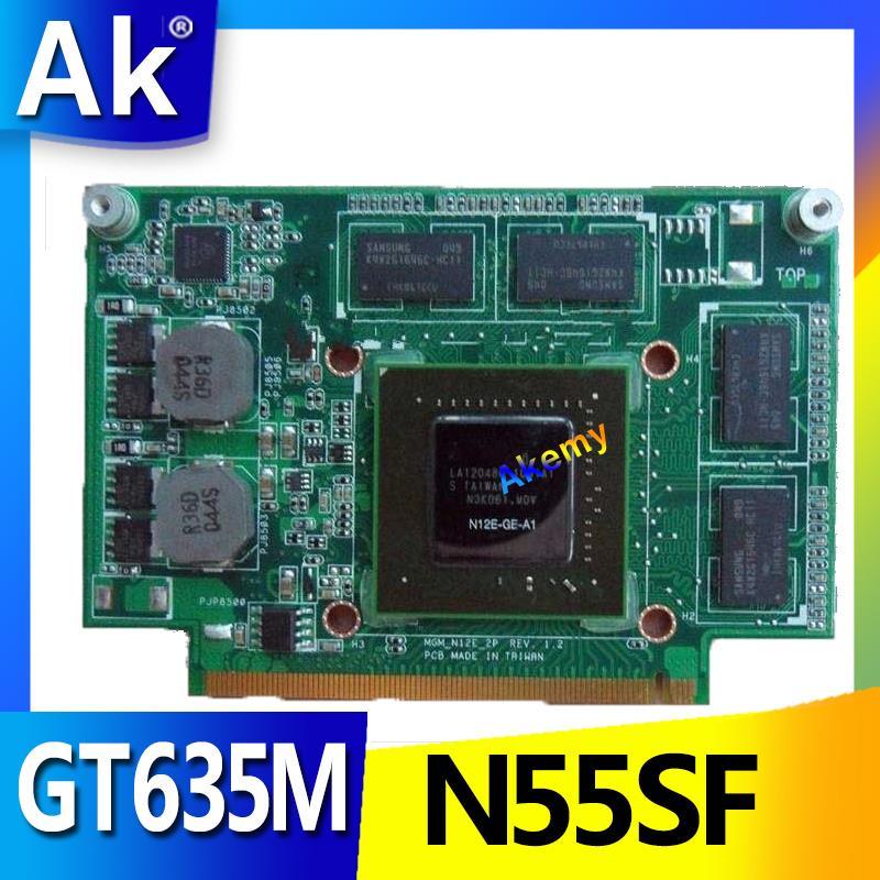 AK N55SF الجرافيك بطاقة 2GB ل For Asus N75S N55S N75SF N55SF N75SL N55SL GT635M GT555M VGA الفيديو المحمول بطاقة 100% اختبار