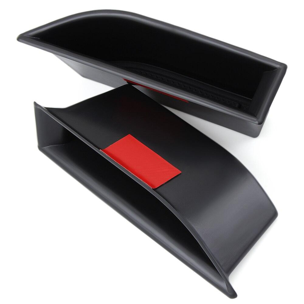 2 шт./компл. Черная передняя дверная ручка коробка для хранения Контейнер держатель лоток автомобильные аксессуары для Peugeot 5008 3008 GT 2016 2017 2018
