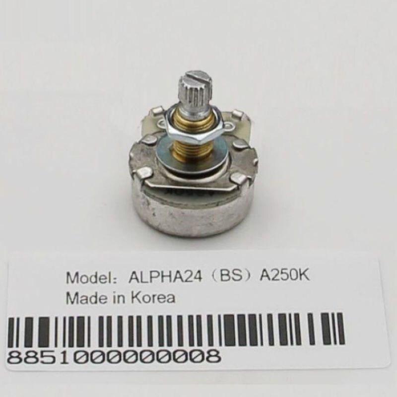 Potenciómetro grande de cobre alfa para controles de volumen de guitarra eléctrica controles de tono A250K B250K A500K B500K