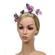 MUQGEW Fascinator Kappe Haar Clips Haarnadeln Damen Blume Top Hut Frauen Schmetterling Fascinators Headclip Stirnband Für Tee Party # y4
