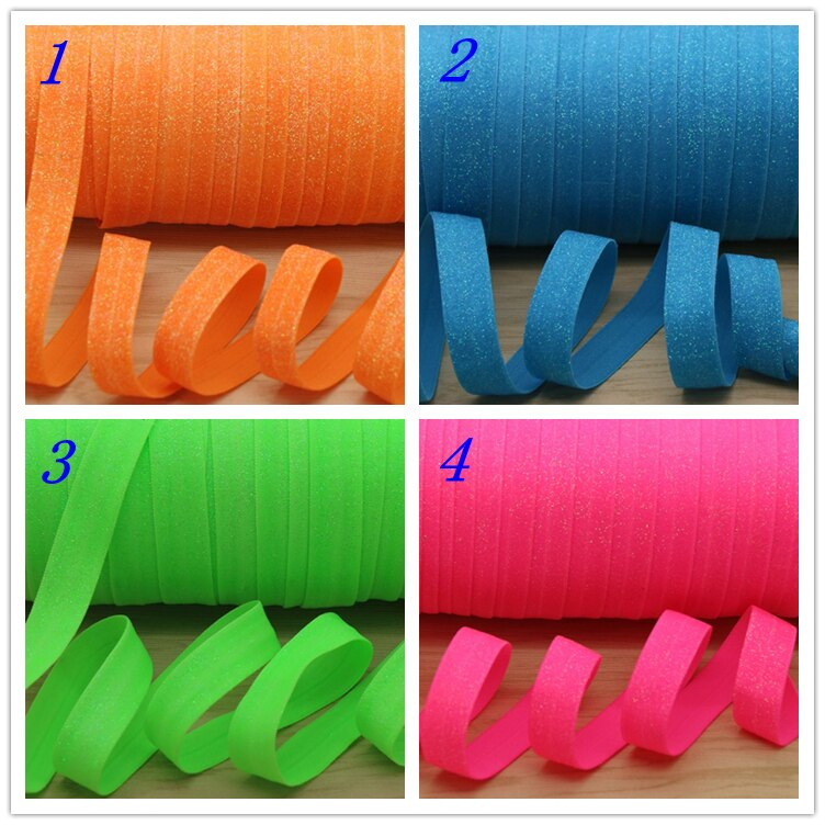 5/8 Free shipping shine Glitter Fold Elastic FOE headband headwear hairband diy decoration wholesale OEM H5390