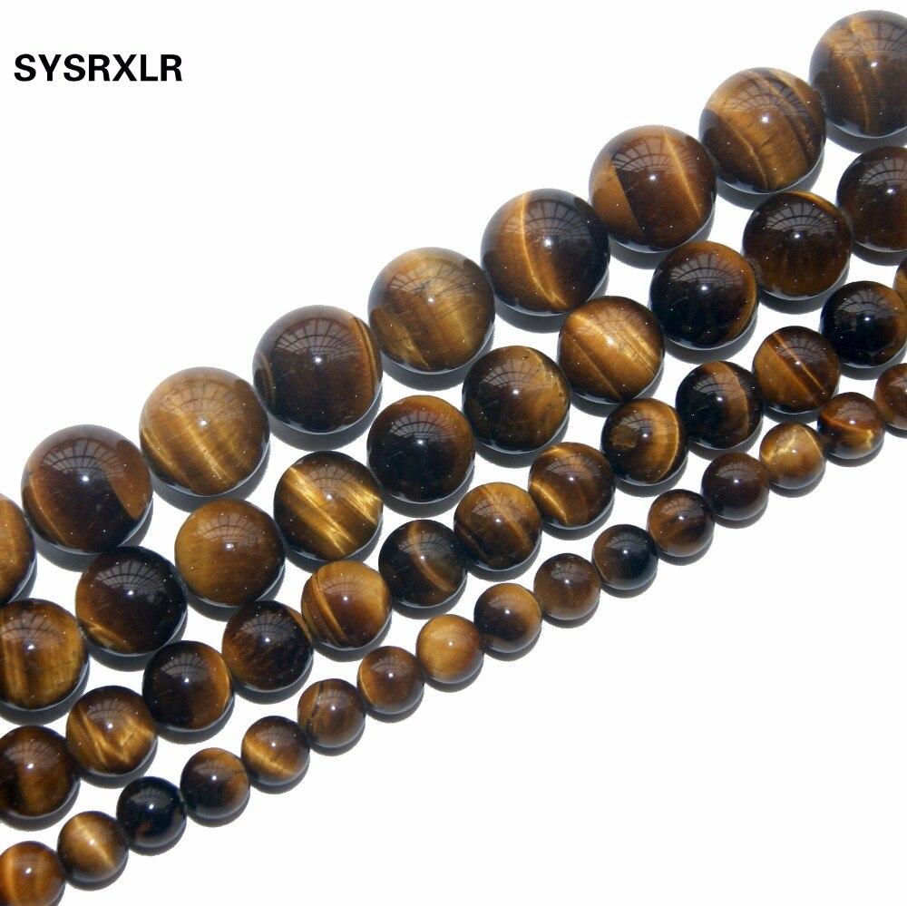 ¡Envío gratis! cuentas de piedra Natural, cuentas dispersas de tigre amarillo, cuentas semiacabadas DIY hechas a mano para la fabricación de joyas