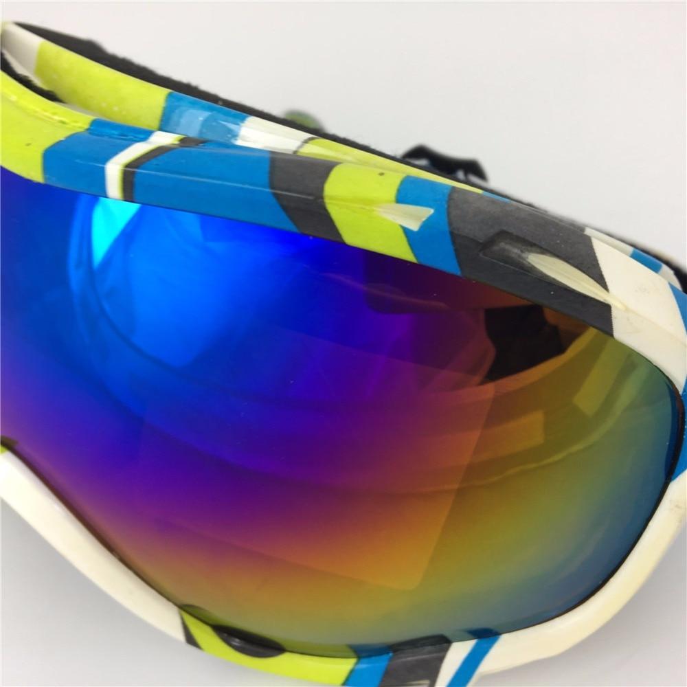 Clearance Snow ski goggle UV 400 antifog snowboard goggles double lens PC TUP frame goggles spherical ski goggles skiing