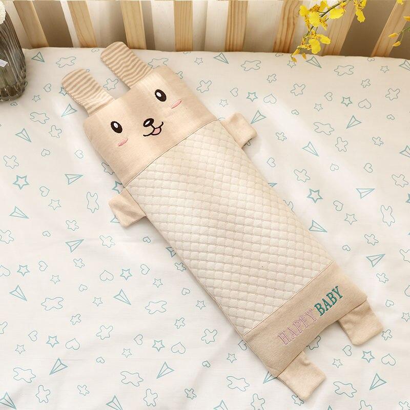 Almohada transpirable para bebés recién nacidos almohada de relleno de alforfón Natural con Linda funda de almohada de colores de dibujos animados cojín de protección para la cabeza del bebé