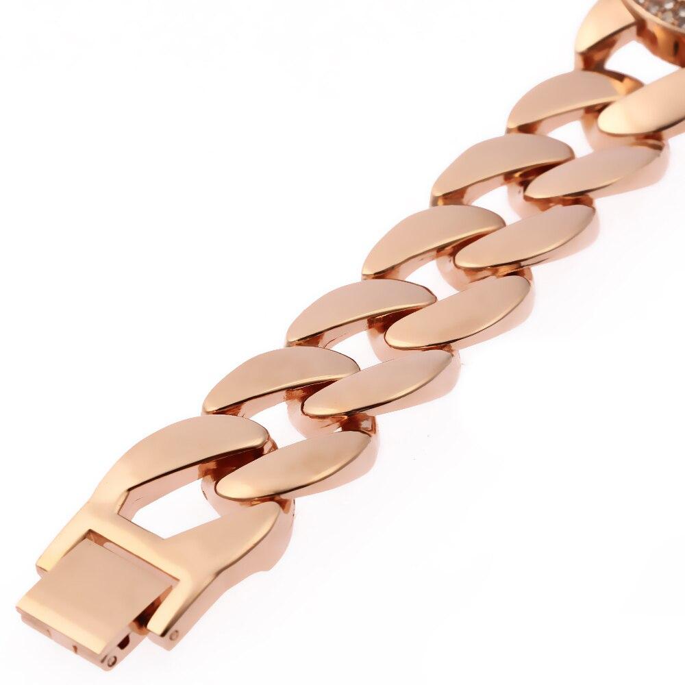 Relogio Feminino Rose Gold G&D Women Quartz Wristwatch Stainless Steel Women's Dress Bracelet Watch Rhinstone Reloj Mujer Gifts enlarge