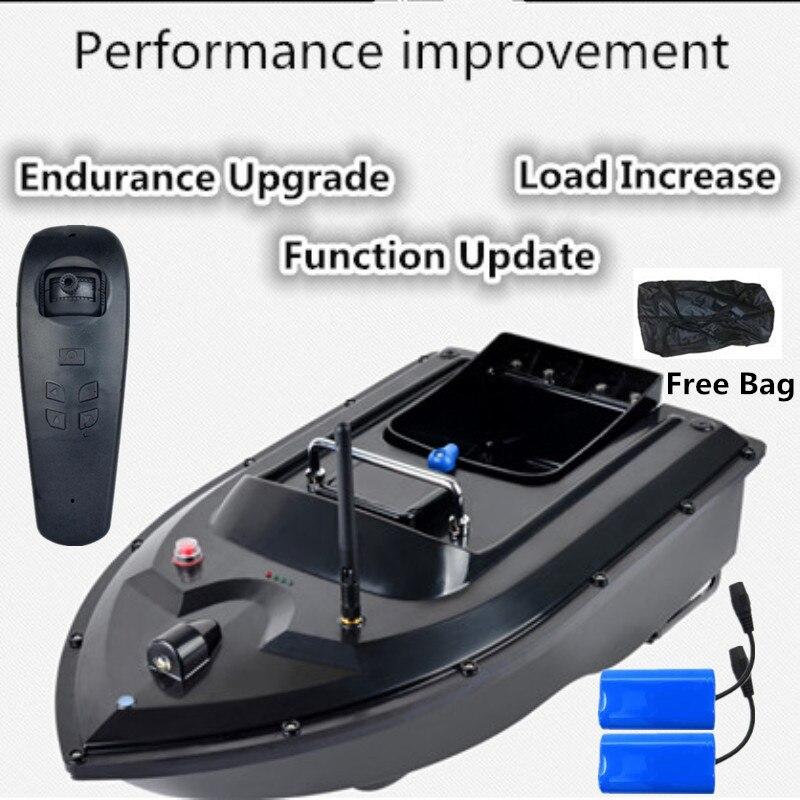 Nova atualização rc barco isca de pesca 500m rc distância correção automática rota rc barco de peixes com 2 pçs 5200mah bateria saco livre presente