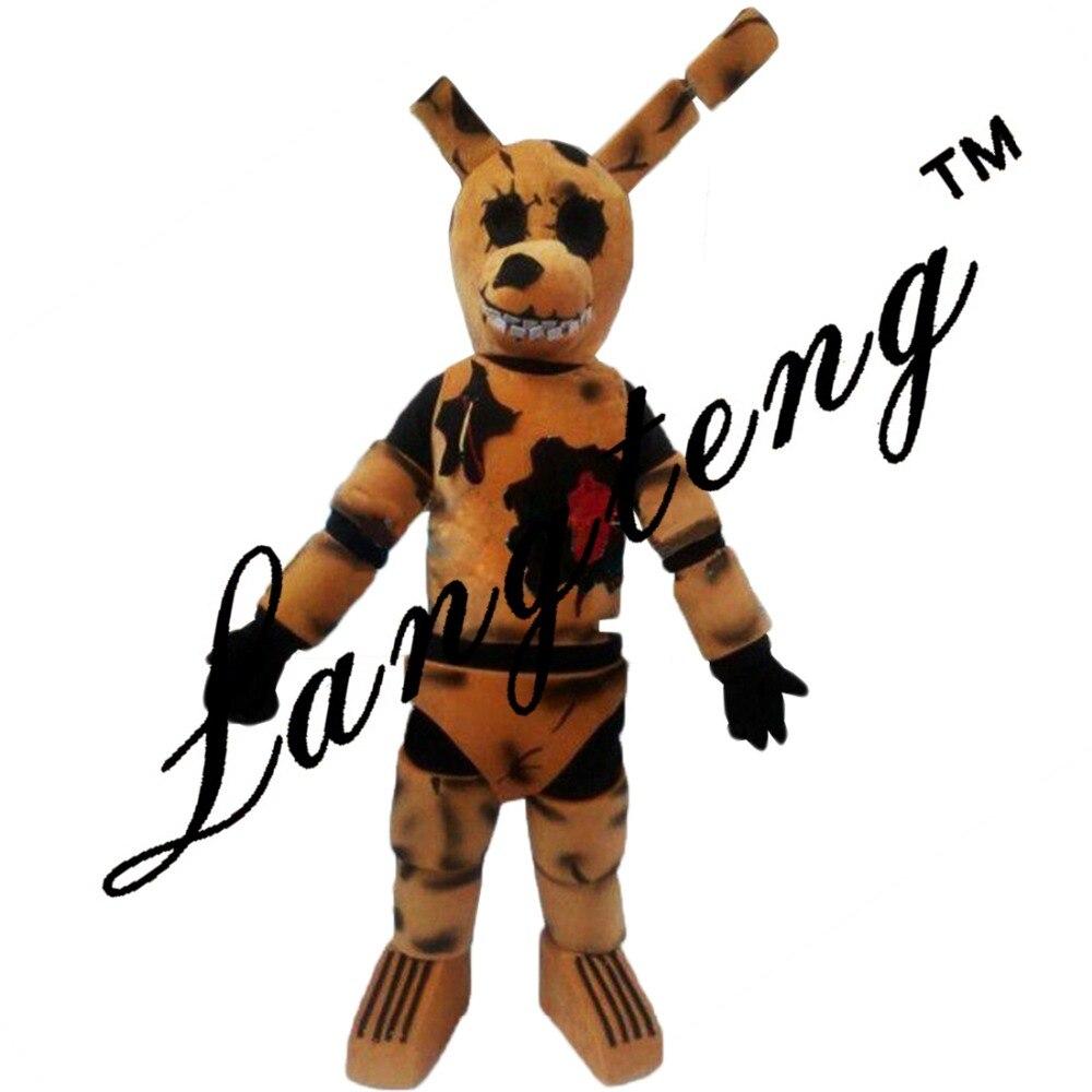 Cinco Noches En de Freddy Fnaf Juguete Espeluznante Marrón Conejito Trajes de La Mascota Para Adultos de la Navidad de Halloween Outfit Envío Gratis