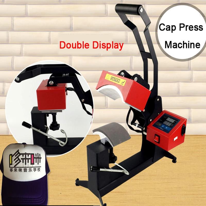 آلة الضغط الساخن بالتسامي ذات الشاشة المزدوجة ، طابعة نقل الحرارة ، DIY ، طباعة قبعة مخصصة