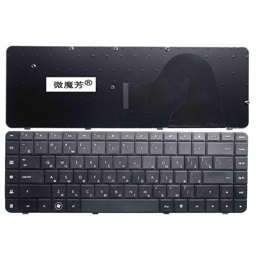RU черная новая клавиатура для ноутбука HP Compaq G56 G62 CQ62 CQ56, Русская клавиатура для ноутбука с CQ56-100