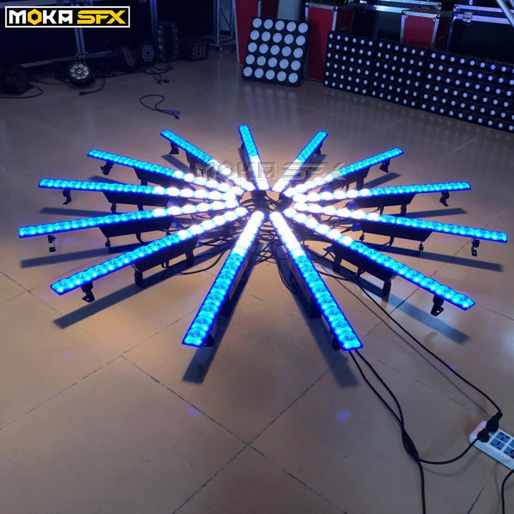 14 pces x 3w luz de lavagem da parede dmx controle arruela de parede iluminação de palco rgb 3in1 led luz de lavagem para discoteca natal conduziu a barra de luz