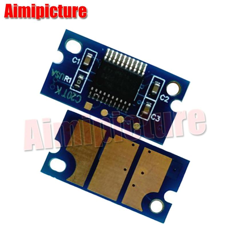 Para Minolta 1600 1600 W 1650 Chip de cartucho de tóner Konica Minolta para 1600 w/1650NE/1680MF/1690MF restablecer chip 2,5 K 2 set/lote