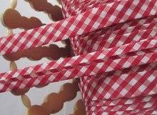 "Envío Gratis T/C scotch diagonal tamaño 15mm de ancho 5/8 "", cinta plegable, enlace diagonal, rojo, 100yds (91,4 m) para tela DIY"