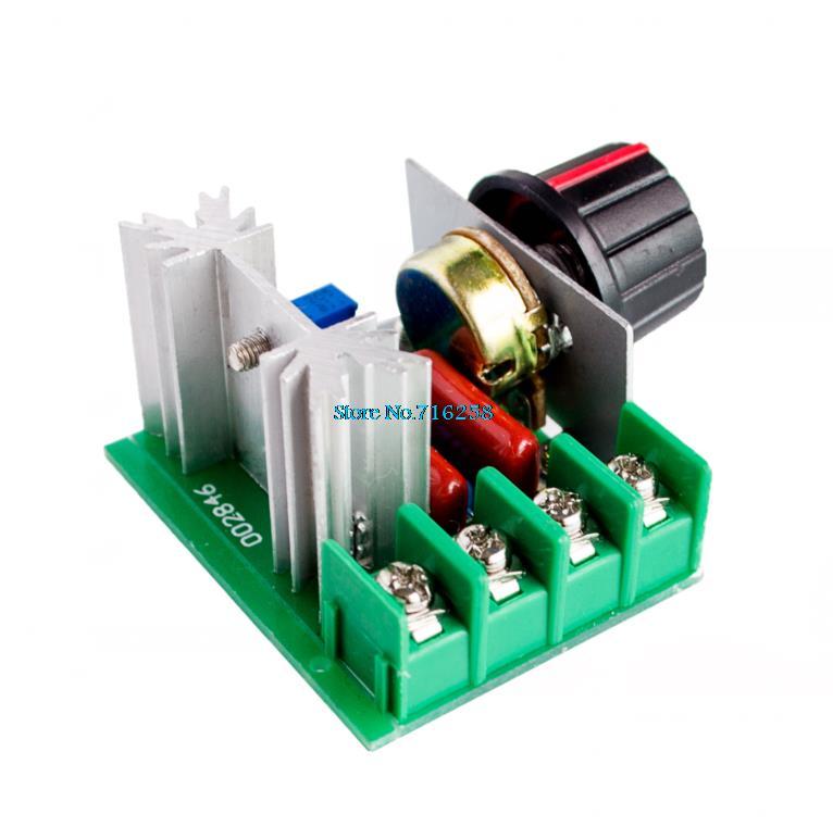 AC 220V 2000W SCR регулятор напряжения Диммеры Регулятор скорости термостат