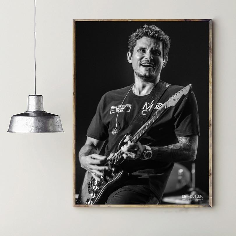 John  Mayer Music Star Art Silk Poster Prints Home Wall Decor Painting