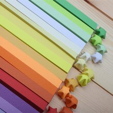 Offre spéciale de papier Origami étoile porte-bonheur   Bandes colorées, en papier Origami Quilling, 16 couleurs, faites à la main, (1360 pièces/lot)