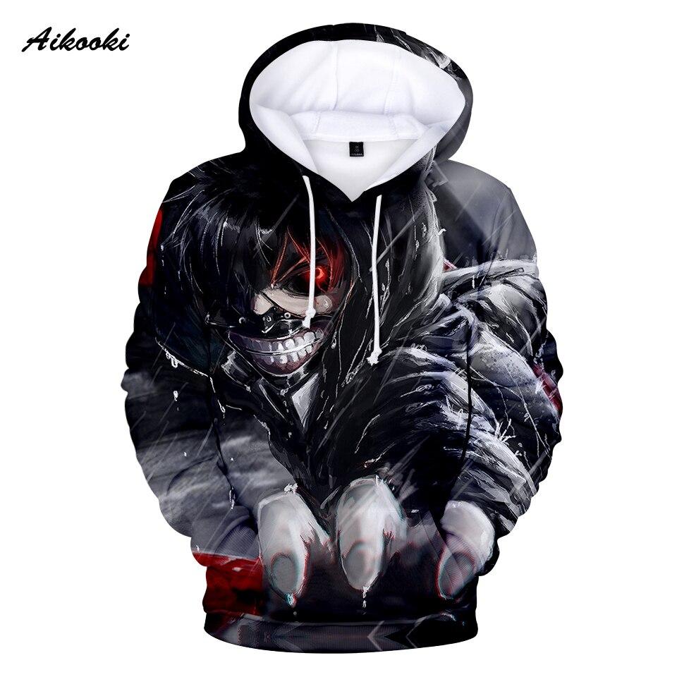 Aikooki Tokyo Ghoul 3D Hoodies hombres/mujeres niños/niña Sudadera con capucha invierno Hoodie 3D Pop Print Tokyo Ghoul 3D sudaderas