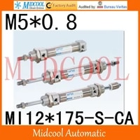 mi series iso6432 stainless steel mini cylinder mi12175 s ca bore 12mm port m50 8
