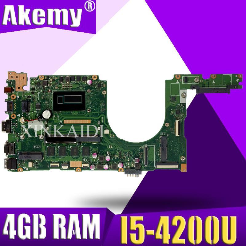 PU401LA con I5-4200 CPU 4GB RAM placa madre REV 2,2 para ASUS PU401 PU401L PU401LA PU401LAC placa base de computadora portátil 100% de prueba
