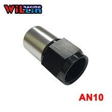 WILLIN-الألومنيوم AN10-10AN مستقيم قطب تجعيد منحنى المناسب مع اذع نهاية الأسود