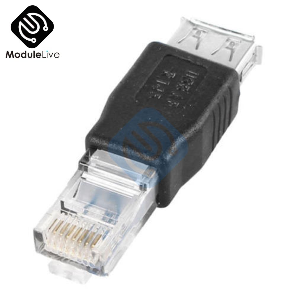 10PCS USB A Buchse Zu 10/ 100Mbps Ethernet LAN RJ45 Männlichen Netzwerk Adapter Stecker New