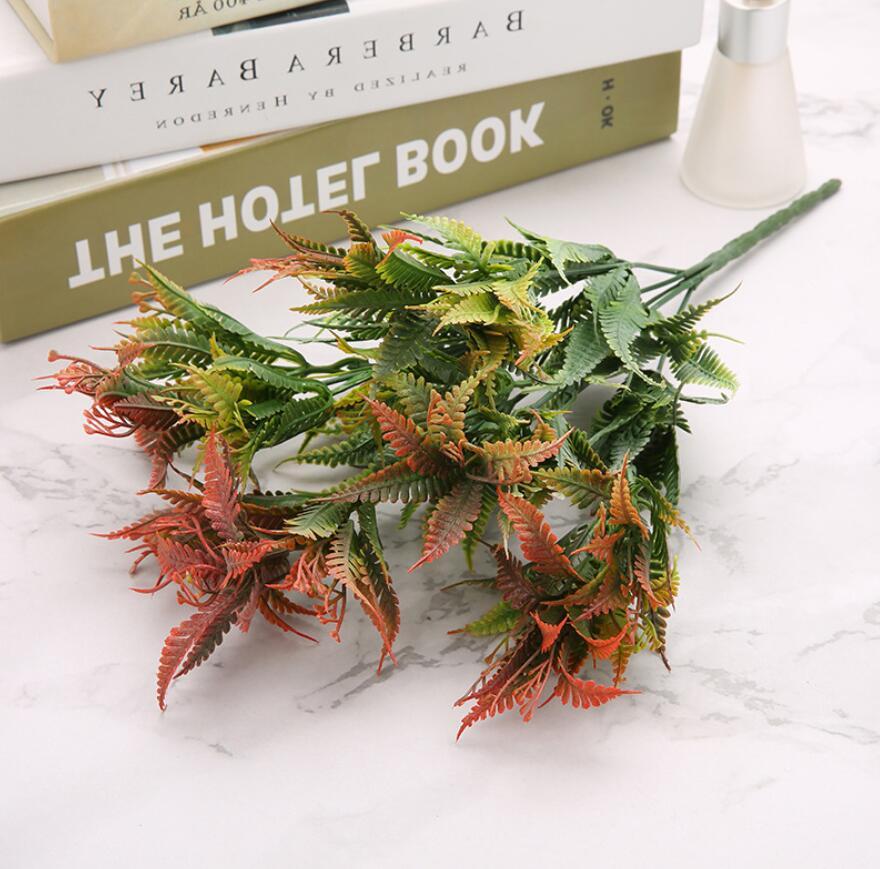 5pcs Artificial Mimosa pudica Linn Branch Plant Wall For Flower Arrangement Props Wedding Bouquet Home Bar Hotel Decoration