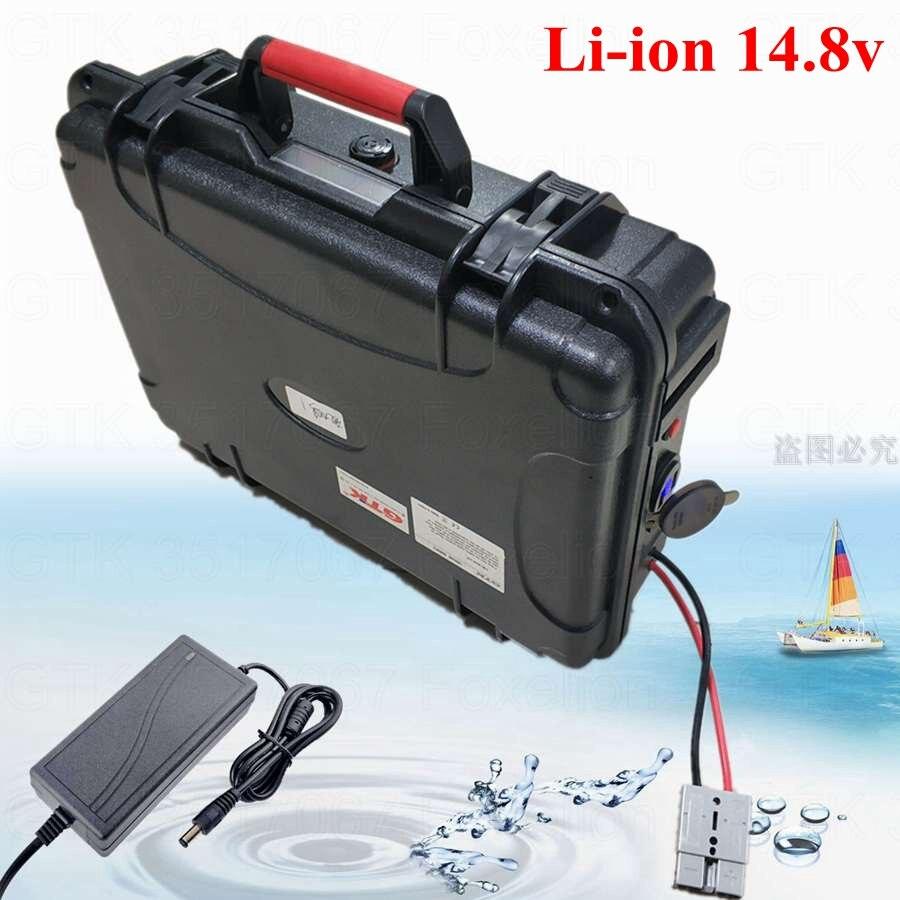 Capacidad Ultra-grande 14,8 V 100AH 120AH 150AH 180Ah 15v 200AH lipo de litio batería Li-Ion 12v para solar motor de barco ander macho CES