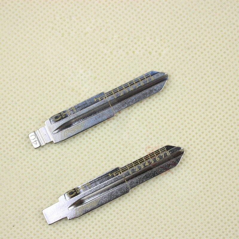 Cuchilla de clave de línea grabada CH1 para Chevrolet Epica Captiva, clave sin grabar para corte de dientes de corte a escala (No 40)